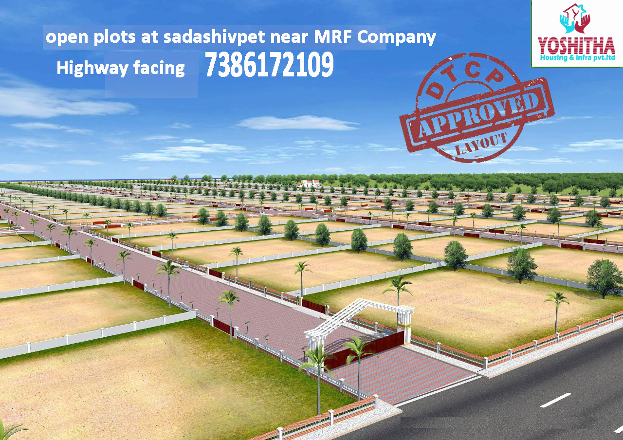 Open plots available at highway facing