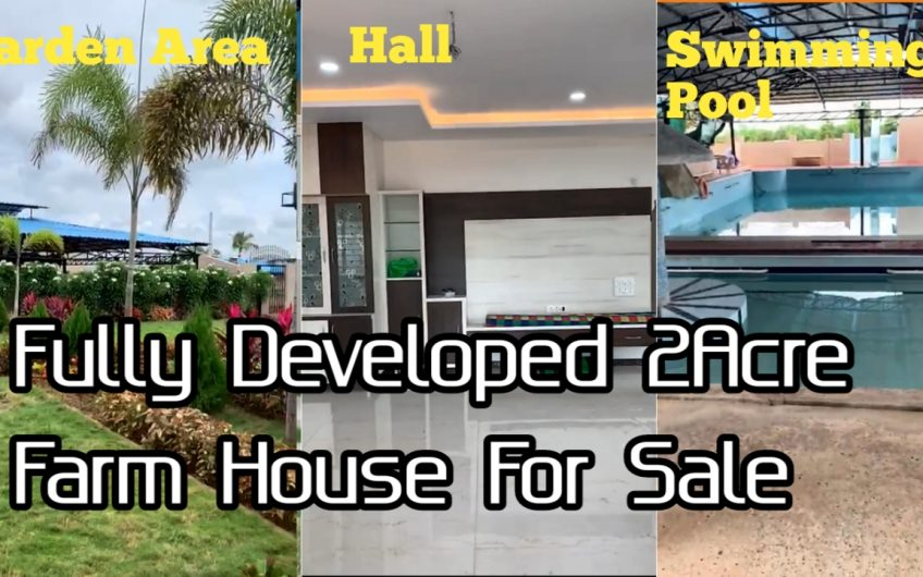 2 Acre fully Developed Farm house For Sale in Hyderabad
