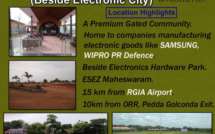 Open Plots @ maheswaram beside Electronic City.
