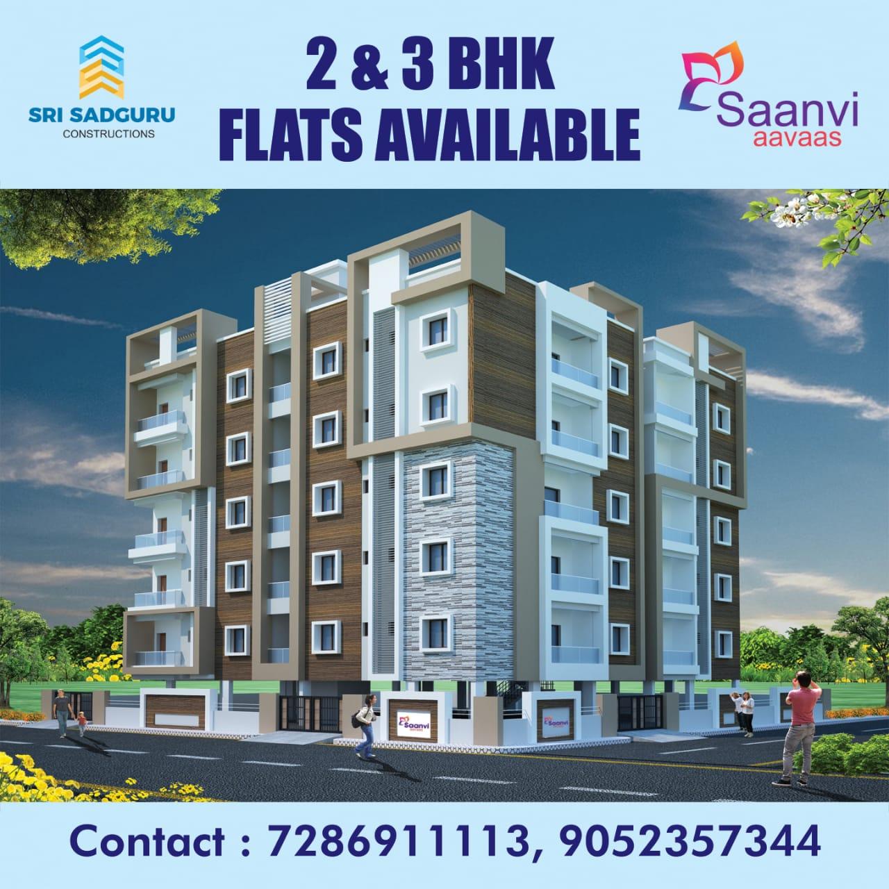 Flat For Sale in Miyapur Saanvi Aavas Apartment